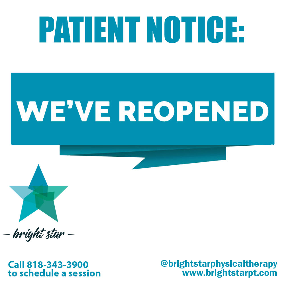We Re Back Bright Star Physical Therapy Is Now Open For Business Bright Star